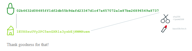 کلید عمومی بیت کوین
