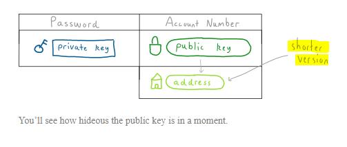 آدرس بیت کوین همان کلید عمومی است