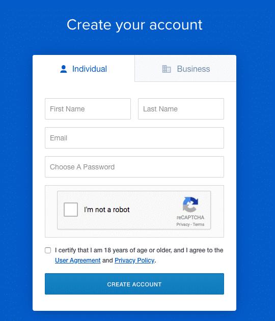ثبت نام در صرافی coinbase
